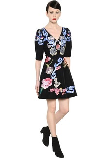 Temperley Tattoos Hand-embroidered Poplin Dress