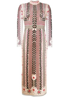 Temperley teahouse sleeved dress