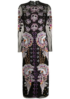 Temperley embroidered-design midi dress