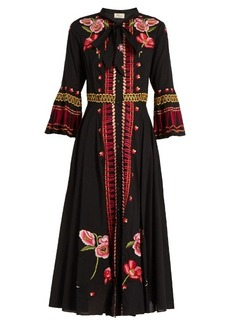 Temperley London Amity floral-embroidered cotton dress