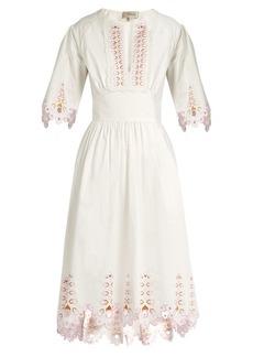 Temperley London Amour broderie-anglaise cotton-poplin dress