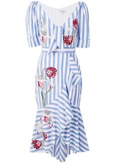Temperley London Bella ruffle dress - Blue