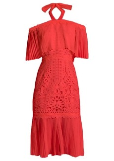 Temperley London Berry lace off-the-shoulder dress