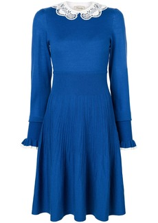Temperley London Bliss sleeved dress - Blue