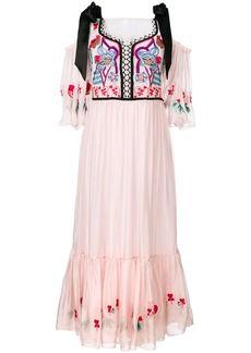 Temperley London Botanist dress - Pink & Purple