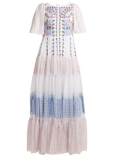 Temperley London Bourgeois embroidered-detailed silk gown