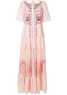 Temperley London Bourgeois long dress - Pink & Purple