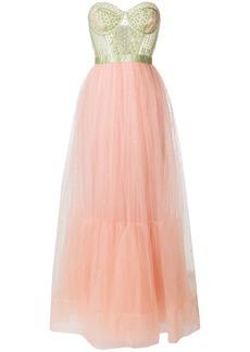 Temperley London Cannes long dress - Pink & Purple