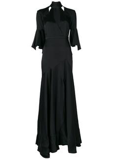 Temperley London Carnation long dress - Black