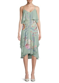Temperley Chimera Ruffle Silk Dress
