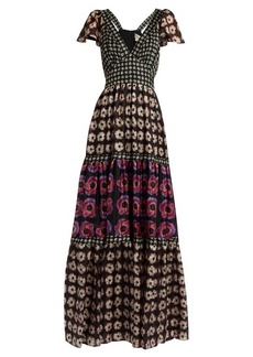 Temperley London Clarion-print silk crepe de Chine maxi dress