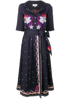 Temperley London Divine wrap dress - Blue