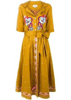 Temperley London Divine wrap dress - Yellow & Orange