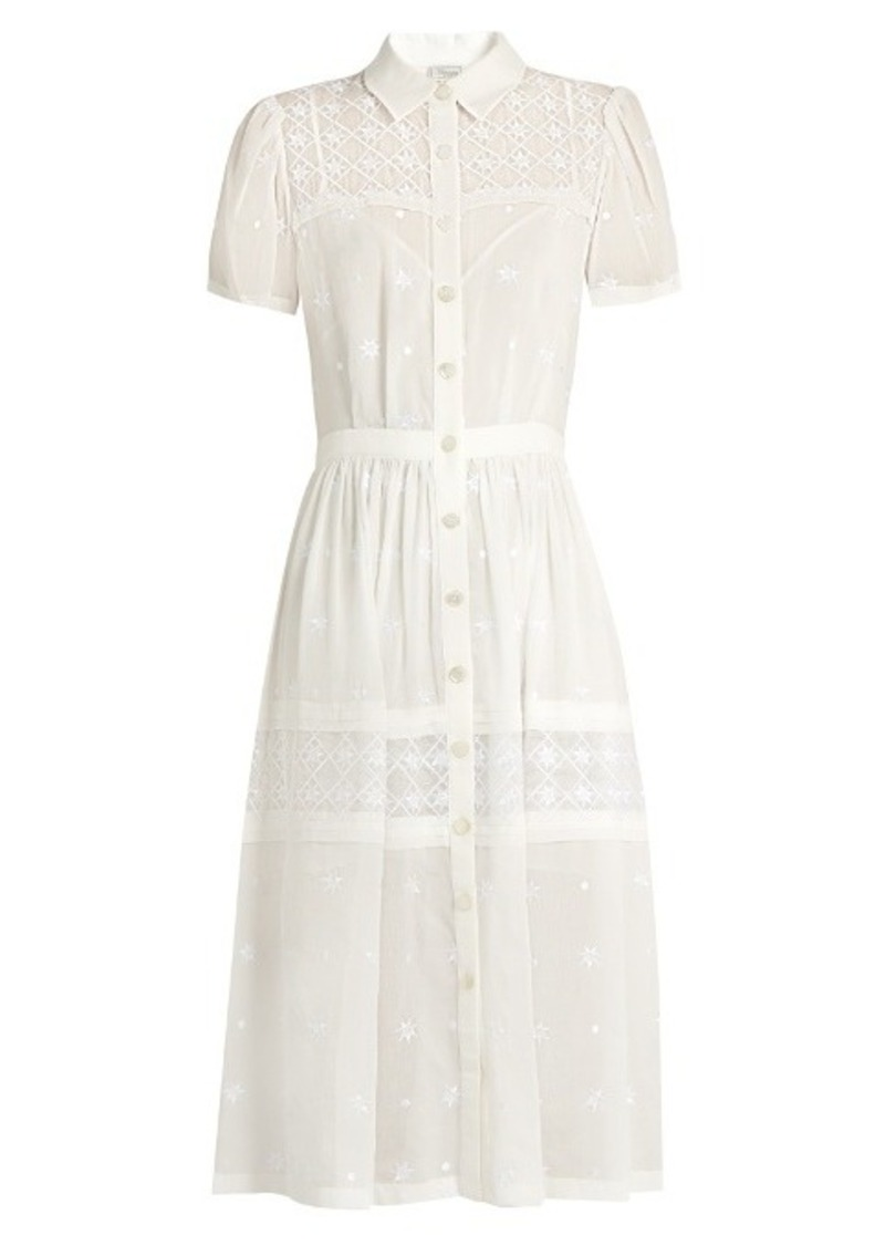Temperley London Etta embroidered cotton and silk-blend dress