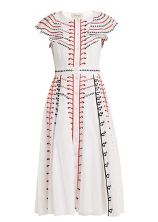 Temperley London Expedition embroidered cotton dress