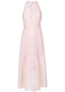 Temperley London flared lace maxi dress - Pink & Purple