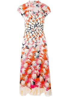 Temperley London Garden Cacti dress - Pink & Purple
