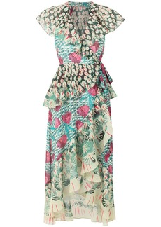 Temperley London Garden Cacti printed dress - Multicolour