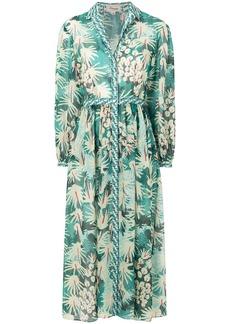 Temperley London Garden Cacti shirt dress - Green