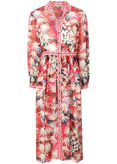 Temperley London Garden Cacti shirt dress - Multicolour