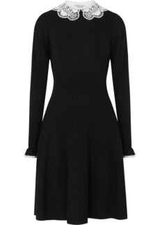 Temperley London Guipure lace-trimmed merino wool dress