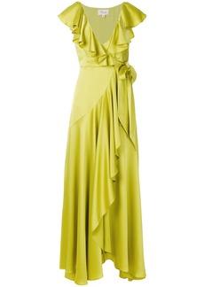 Temperley London Juliette ruffle dress - Green