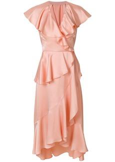 Temperley London Juliette wrap dress - Pink & Purple