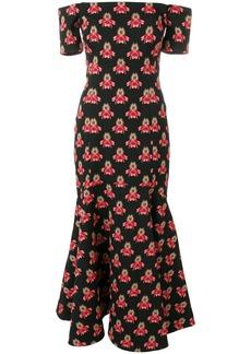 Temperley London Jupiter off shoulder dress - Black
