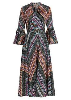Temperley London Kaleidoscope-print cotton dress