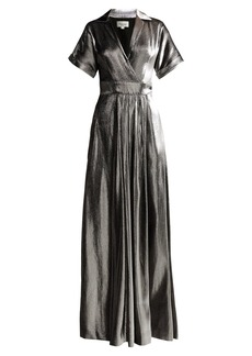 Temperley London Liquid Metal wrap dress