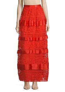Temperley Long River Lace Silk Skirt