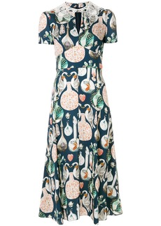 Temperley London Love Potion midi dress - Blue