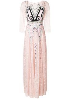 Temperley London Lumiere maxi dress - Pink & Purple