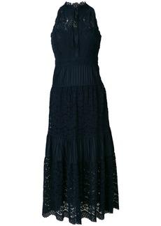 Temperley London Lunar lace-detail midi dress - Blue