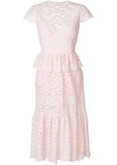 Temperley London Lunar lace-detail midi dress - Pink & Purple