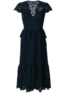 Temperley London Lunar lace-embroidered midi dress - Blue
