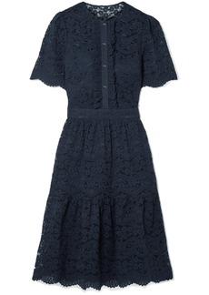 Temperley London Lunar ruffled corded cotton-blend lace dress