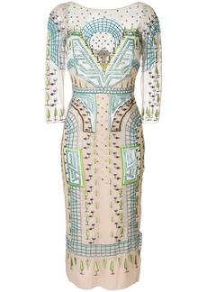 Temperley London Maze midi dress - Multicolour