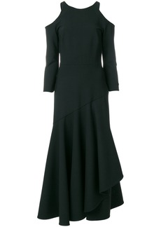 Temperley London Mercury ruffle dress - Black