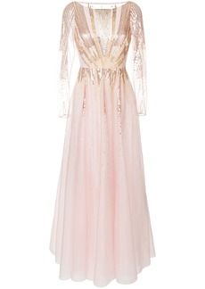 Temperley London Mineral flared dress - Pink & Purple