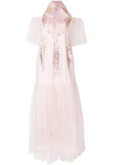 Temperley London Mineral gown dress - Pink & Purple