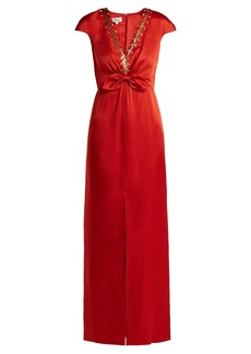 Temperley London Nile sequin-embellished satin gown