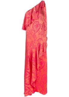 Temperley London Orbit ruffle dress - Yellow & Orange