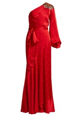 Temperley London Parachute embellished satin gown