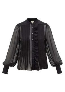 Temperley London Penny ruffled silk-chiffon blouse
