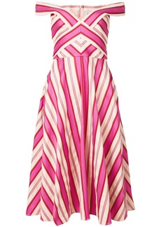 Temperley London Pine Tree dress - Pink & Purple