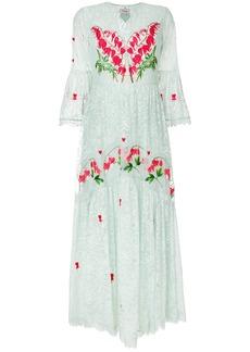 Temperley London Potion v-neck dress - Green