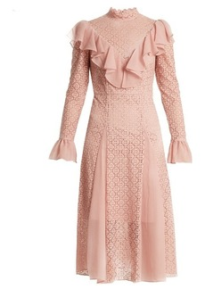Temperley London Prairie ruffled lace dress