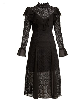 Temperley London Prairie ruffled lace dress