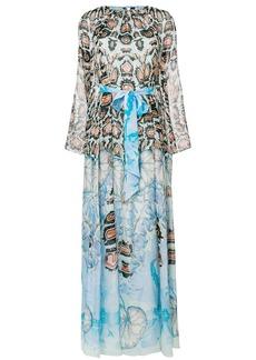 Temperley London printed bow dress - Blue